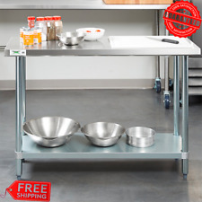 Commercial Kitchen Work Prep Table Stainless Steel With Shelf 18 Gauge 18 X 48