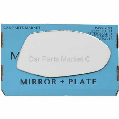 For Audi A7 2010-2017 Right Driver side Flat wing door mirror glass with plate