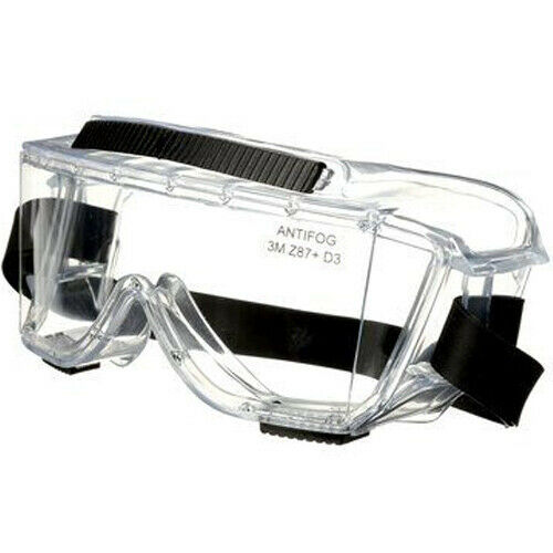 3M 454AF Impact Splash Protection Safety Goggle Clear Anti-Fog Eyewear Glasses