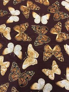 Benartex-jardin Papillon - #cm4911 - 100% Coton-par 1/4m-afficher Le Titre D'origine Mode Attrayante