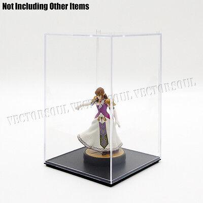 "US 5.8""/16cm H Acrylic Display Box Clear Perspex Case Plastic Dustproof Figure"
