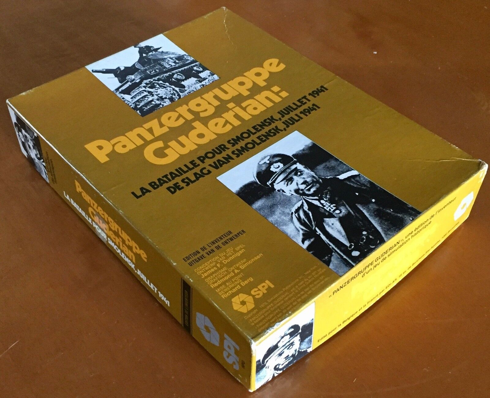 Panzergruppe Guderian - French Dutch Boxed Designer's Edition SPI 1976 - PUNCHED