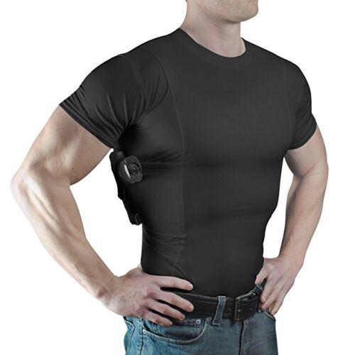 NEW ConcealmentClothes Men's Crew Neck Undercover Concealed Carry Holster Shirt
