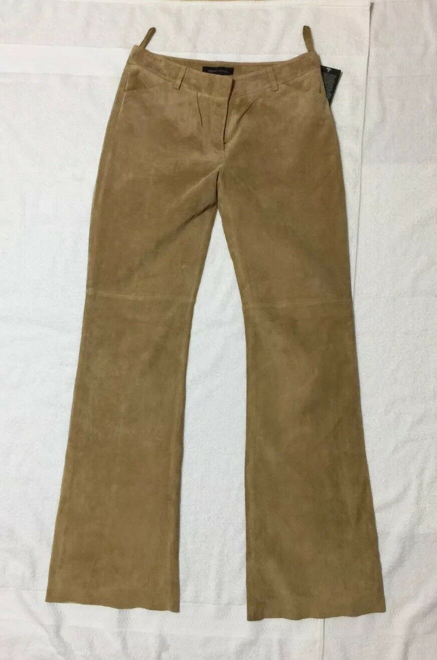 Moda International Women Leather Pants Size 6