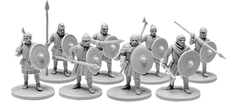 V&V Miniatures the Anglo-Saxons Ceorls 4 Warband Anglo-Saxons Saxony Spear