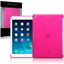 "Apple iPad Air Case High Density  Gel 9.7"" Pink Cover Inc Screen Protector"