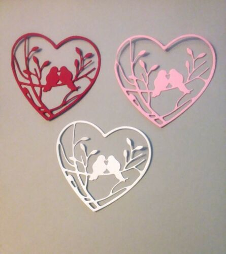 Valentine Sweet Love Birds Die Cuts 9 Pcs 1 to 2 day shipping