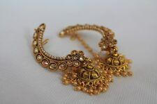 Nuevo Indio étnico oreja dobladillo pendientes de perlas Jhumki Jhumka 323