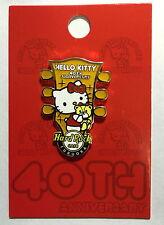 Hard Rock Cafe FUKUOKA 2014 Hello Kitty 40th Anniversary Guitar Head Pin LE100