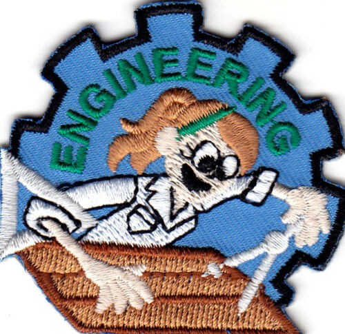 """/""""ENGINEERING/""""  Iron On Patch Engineer Profession Tecnical STEM"""