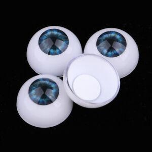 24mm Acrylic Eyeballs Safety Eyes for Reborn Baby Girl//Boy Doll Dark Blue