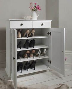 Image Is Loading Shoe Storage Cabinet Cupboard With 2 Storage Drawers