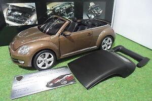 VOLKSWAGEN-THE-BEETLE-Cabriolet-Convertible-brun-1-18-KYOSHO-08812TBR-miniature