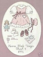 """Our Little Girl Cross Stitch Kit - Weekenders Range - 14 Count - 5"""" x 7"""""""