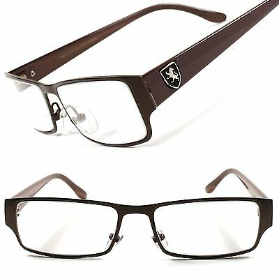 Fashion Designer Fancy Smart Trendy Mens Womens Rectangle Clear Lens Eye Glasses