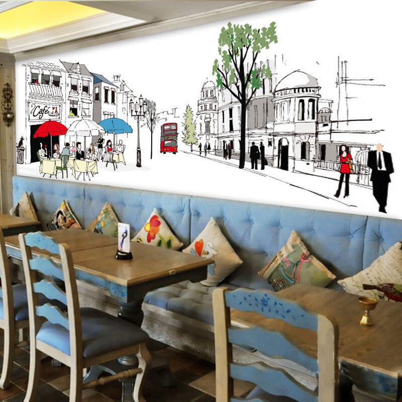 3D Strade, neve 2 Parete Murale Foto Carta da parati immagine sfondo muro stampa