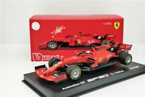 Bburago-1-43-Signature-Series-2019-FERRARI-F1-SF90-5-sebastian-Vettel-voiture-modele