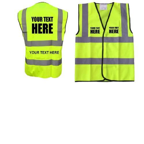 Personalised Hi vis safety vest Printed High visiblity viz vest//waistcoat EN471