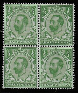 SG321-1-2d-Pale-Green-Die-A-Fresh-Unmounted-Block-Of-4-Cat-40-Ref-0830