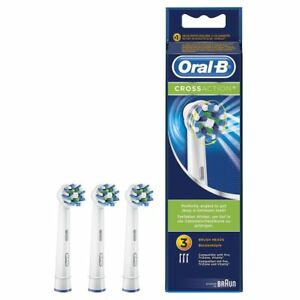 3 testine oral-b spazzolini di ricambio crossaction originali braun testina cros