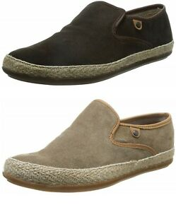 Base-London-SOUND-Mens-Suede-Leather-Slip-On-Espadrille-Loafers-Shoes-6-12-UK