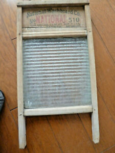 Antique National Washboard Co No 510 Ribbed Glass Panel Great Laundry Wall Decor Ebay