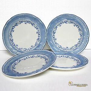 Richard-Ginori-4-piatti-antichi-bianchi-blu-servizio-in-ceramica-laveno-vintage