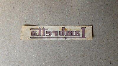 Emblema Adesivo Moto Lambretta Rosso Originale Dell'epoca, Decalcomanie