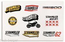 DUCATI Scrambler Lifestyle Logo Aufkleber Sticker Set NEU !!