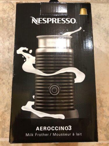 NEW Nespresso 3694-US-BK Aeroccino3 Milk Frother Aeroccino 3 Black w// Warranty