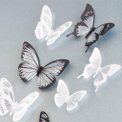 Lots 18pc DIY 3D Butterfly Wall Stickers Art Decal PVC Butterfly Home Room Decor