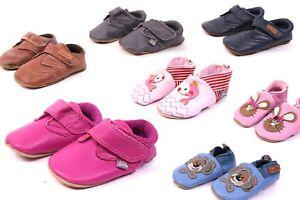 on sale 606e4 b396d Details zu Melton Kinder Baby Lederpuschen Hausschuhe Krabbelschuhe Gr. 16  - 29 Soft Leder