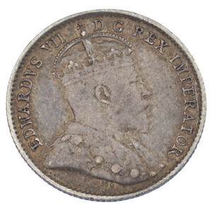 1910-Canada-5-Cents-In-Very-Fine-KM-13