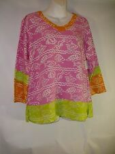 Silly Sarong S Small Ocean Tunic Top Beach Vacation Wear Preppy Pink and  Green