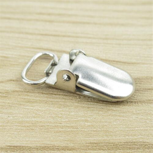 5//10//20X Insert Pacifier Metal Holder Suspender Clips Mitten For  DIY Craft 10mm