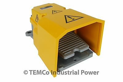 TEMCo Extra Heavy Duty Foot Switch W Guard 15A SPDT Electric Pedal Momentary New