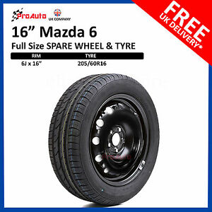 Mazda-6-2007-2013-FULL-SIZE-STEEL-SPARE-WHEEL-amp-TYRE-205-60R16