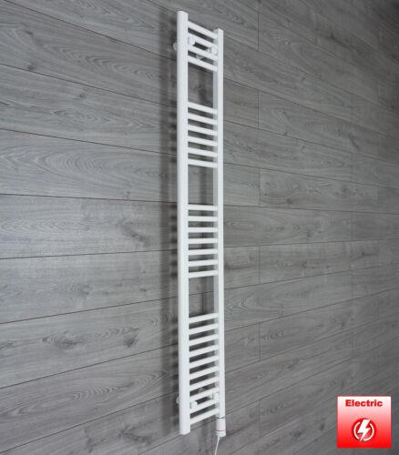 1600 mm High 200 mm Wide Flat White Heated Towel Rail Radiator Bathroom Kitchen