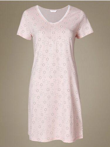 M/&S  Size 22-20-10-12 COOL COMFORT Modal Blend Daisy Print Short Nightdress
