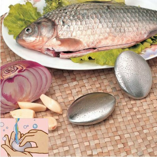 Stainless steel odor-removing soap to remove garlic and fish-removing odor