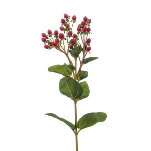 65 cm vert rouge Emerald Art Fleurs Artificielle Hypericum MILLEPERTUIS branche H