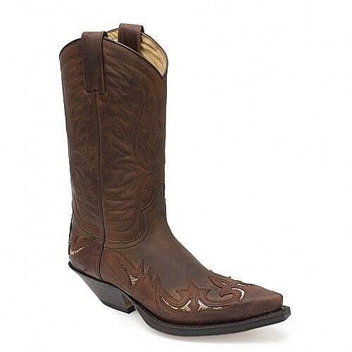 Stivali originali Sendra Boots Boots Boots texani camperos cowboy Biker uomo marrone 43 df1565