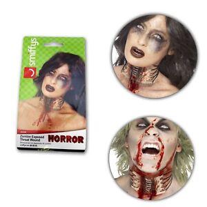 Halloween-Horror-Zombie-Flesh-Exposed-Throat-Wound-SFX-Prosthetic-Skin-Accessory