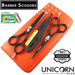 Professional-Barber-Hair-Cutting-Thinning-Scissors-Shears-Set-Hairdressing-Salon