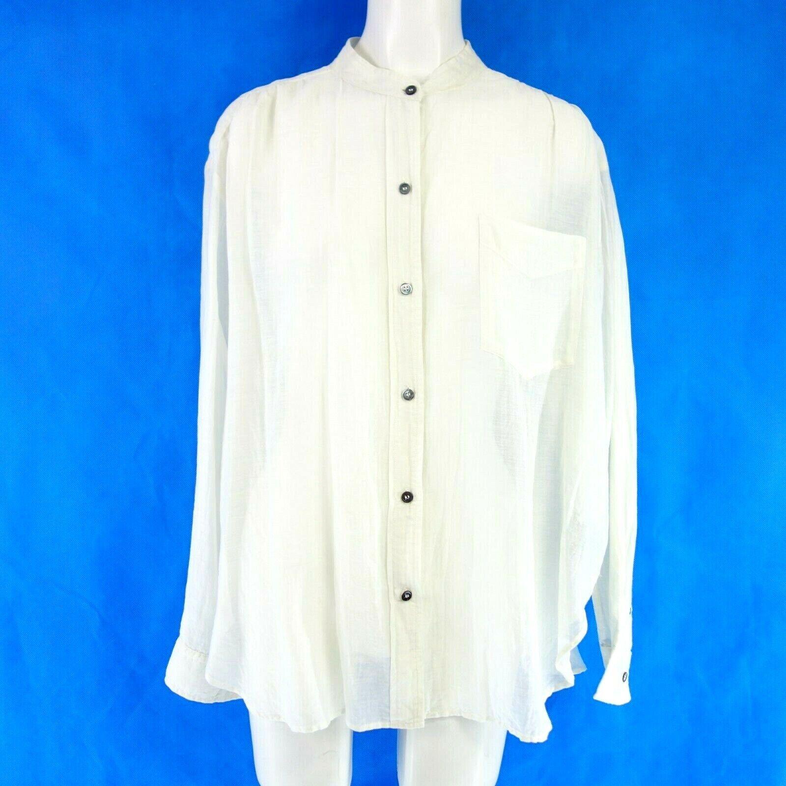 ISABEL MARANT Étoile Damen Blause Gr 40 42 Seide Baumwolle Weiß Weich NP 190 NEU
