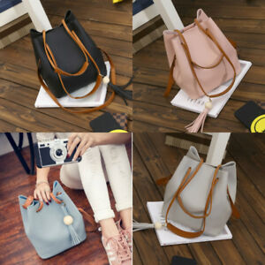 Damen-Tasche-Echtleder-Shopper-Schultertasche-Handtasche-Umhaengetasche-4-Farbe