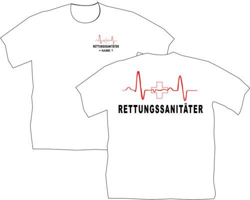 Rettungssanitäter T-Shirt Ersthelfer Rettungsdienst Ausrüstung Bekleidung 56