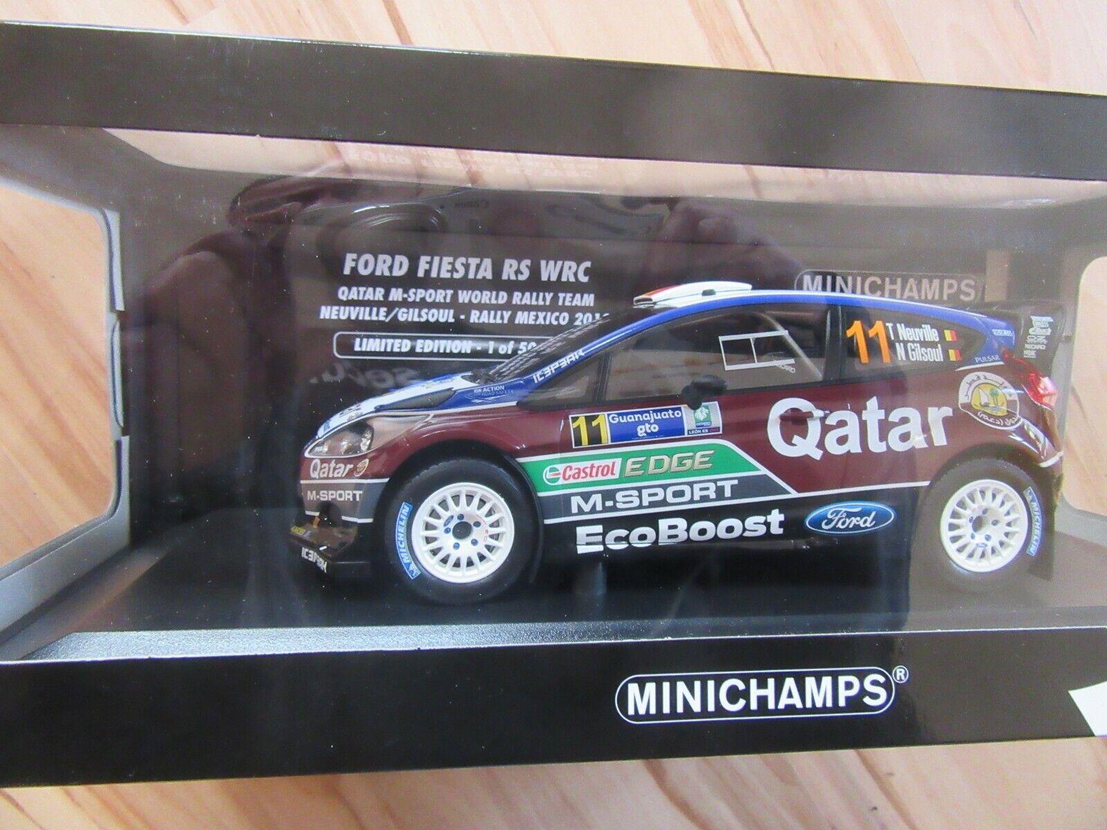 Ford Fiesta WRC Qatar M-Sport Neuville Gilsoul  Mexico 2013 Minichamps  1 18