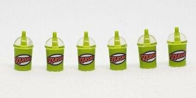 LEGO SLURPEE COFFEE CUPS SQUISHEE DRINK TOWN CITY MINIFIGURE FOOD