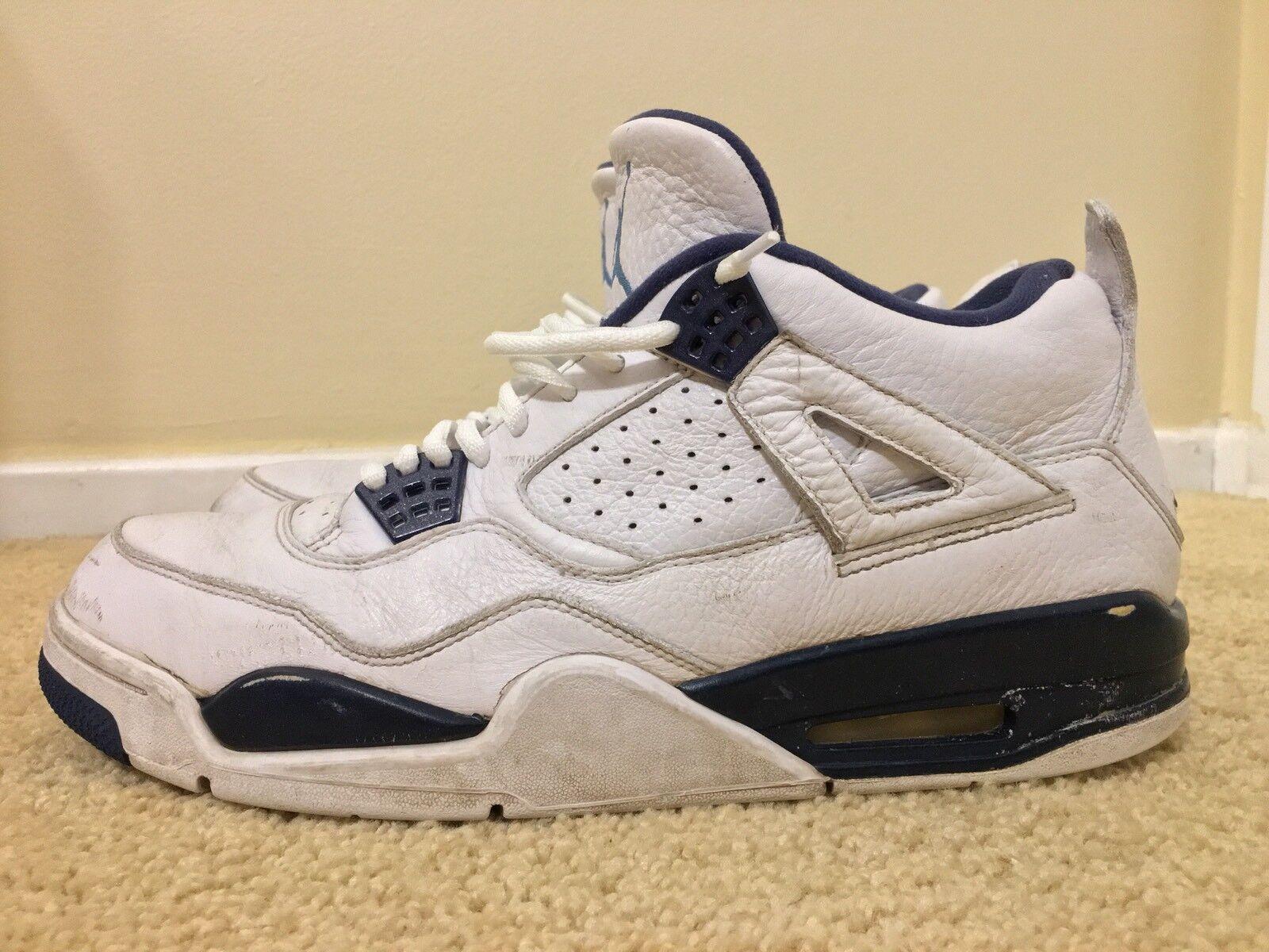 Nike air jordan retrò 4 iv [107] 314254 columbia blu, bianco / blu, numero 43
